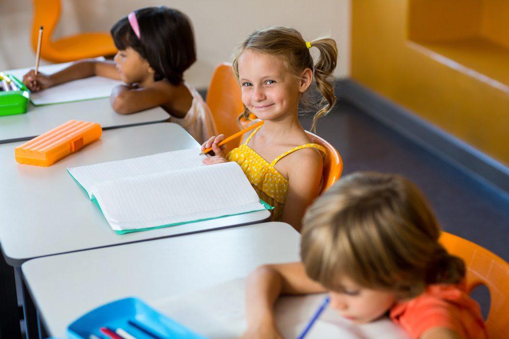 Smart Montessori student.
